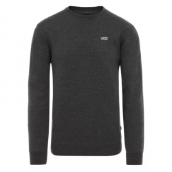 SWEAT VANS BASIC CREW FLEECE - BLACK HEATHER