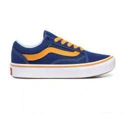 CHAUSSURES VANS COMFYCUSH OLD SKOOL JUNIOR - TRUE BLUE CADMIUM YELLOW