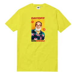 T-SHIRT DAYOFF BIG BISOU - YELLOW