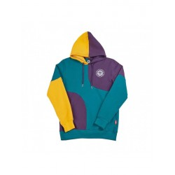 SWEAT BENIBLA HOODIE PATCHWORK - PURPLE