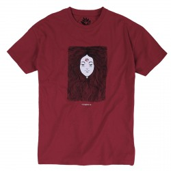 T-SHIRT MAGENTA PEACE TEE - CRANBERRY