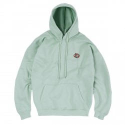SWEAT MAGENTA SHAPES PLANT HOODIE - AQUA GREEN