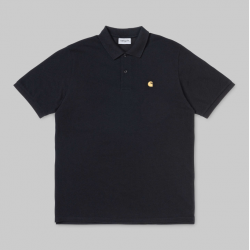 POLO CARHARTT WIP CHASE PIQUE - BLACK GOLD