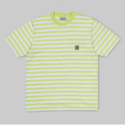 T-SHIRT CARHARTT WIP SCOTTY POCKET - SCOTTY STRIPE LIME