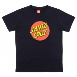 T-SHIRT SANTA CRUZ YOUTH CLASSIC DOT - BLACK