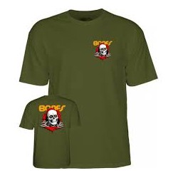 T-SHIRT POWELL PERALTA RIPPER - MILITARY GREEN