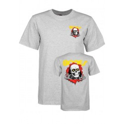T-SHIRT POWELL PERALTA YOUTH RIPPER - GREY