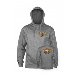 SWEAT POWELL PERALTA HOODIE WINGED RIPPER - GUNMETAL HEATHER