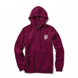 SWEAT PRIMITIVE DIRTY P TROPICS HOOD - BURGUNDY