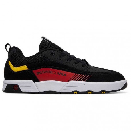 CHAUSSURES DC SHOES LEGACY 98 SLIM - BLACK ATHLETIC RED WHITE