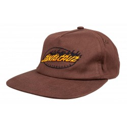 CASQUETTE SANTA CRUZ CAP OVAL FLAME DOT - CHOCOLATE