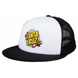 CASQUETTE SANTA CRUZ CAP SUMMER OF 76 - WHITE BLACK