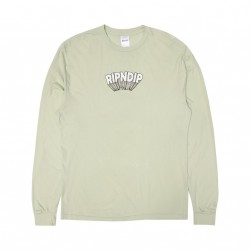 T-SHIRT RIPNDIP MIND BLOWN LS - SAGE