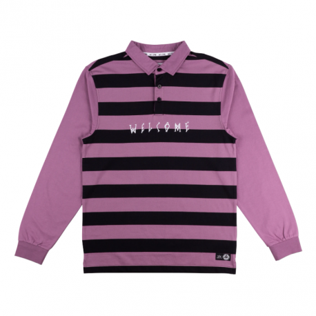 POLO WELCOME DROP OUT LS - GRAPE BLACK