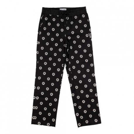 PANTALON WELCOME TALI DOT ALL OVER PRINT - BLACK WHITE