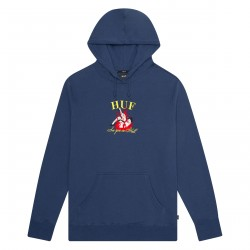 SWEAT HUF SEE YOU IN HELL HOOD - INSIGNIA BLUE