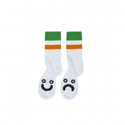 CHAUSSETTES POLAR HAPPY SAD STRIPES - GREEN