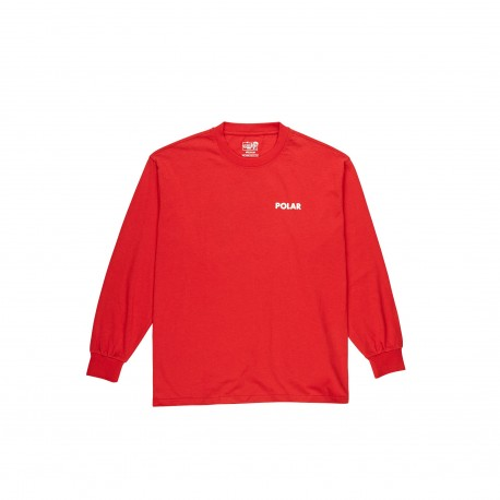 T-SHIRT POLAR STAIRCASE LS - RED