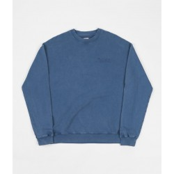 SWEAT POLAR GARMENT DYE CREWNECK - BLUE