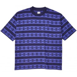 T-SHIRT POLAR SURF STRIPE - NAVY PURPLE
