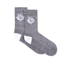 CHAUSSETTES MAGENTA PLANT SOCKS - HEATHER GREY
