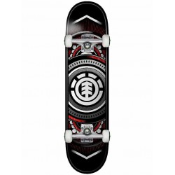 """BOARD COMPLETE ELEMENT HATCHED RED SILVER - 7.5"""""""