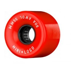ROUES MINI LOGO AWOL 80A 55MM - RED