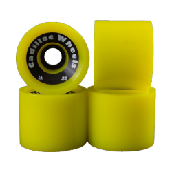 ROUES CADILLAC CLASSIC TWO 74MM 80A - YELLOW