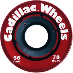 ROUES CADILLAC CLASSIC 56MM 78A - RED