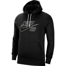 SWEAT NIKE SB PULLOVER SKATE HOODIE - BLACK SUMMIT WHITE