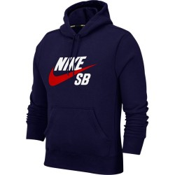 SWEAT NIKE SB ICON - MIDNIGHT NAVY UNIVERSITY RED