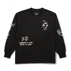 T-SHIRT POLAR NOTEBOOK LS - BLACK