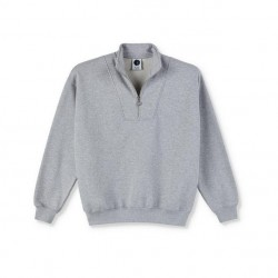 SWEAT POLAR ZIPNECK SWEATSHIRT - SPORT GREY