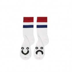 CHAUSSETTES POLAR HAPPY SAD SOCKS STRIPES - RED