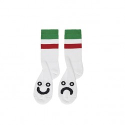 CHAUSSETTES POLAR HAPPY SAD SOCKS STRIPES - GREEN