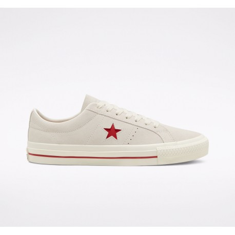 CHAUSSURES CONVERSE CONS ONE STAR PRO OX - EGRET/CLARET RED/EGRET