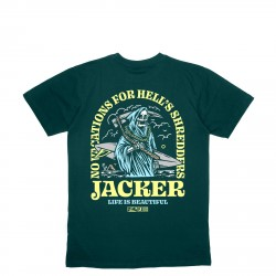 T-SHIRT JACKER NO VACATIONS - DARK GREEN