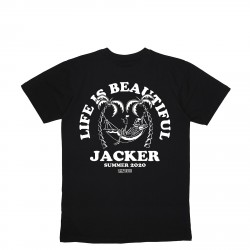 T-SHIRT JACKER PALM BEACH - BLACK