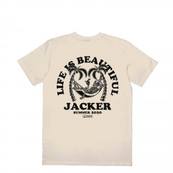 T-SHIRT JACKER PALM BEACH - BEIGE