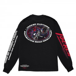 T-SHIRT JACKER BALTIMORE LS - BLACK