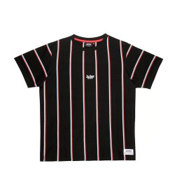 T-SHIRT JACKER SUPER STRIPES - BLACK