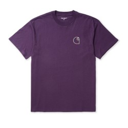 T-SHIRT CARHARTT WIP COMISSION LOGO - BOYSENBERRY