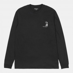 T-SHIRT CARHARTT WIP REFLECTIVE HEADLIGHT - BLACK