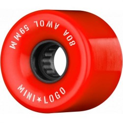 ROUES MINI LOGO AWOL 80A 59MM - RED