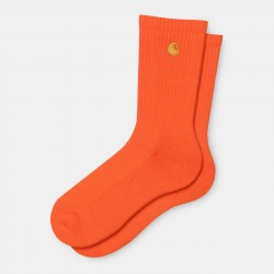CHAUSSETTES CARHARTT WIP CHASE SOCKS - SAFETY ORANGE GOLD