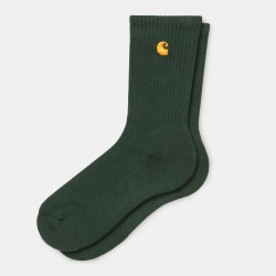 CHAUSSETTES CARHARTT WIP CHASE SOCKS - BOTTLE GREEN GOLD