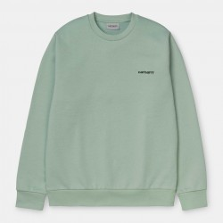 SWEAT CARHARTT WIP SCRIPT EMBROIDERY - FROSTED GREEN