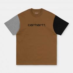 T-SHIRT CARHARTT WIP TRICOL - HAMILTON BROWN