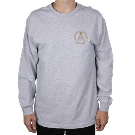 T-SHIRT THEORIES CHAOS LS - HEATHER GREY GOLD