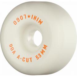 ROUES MINI LOGO WHEELS (JEU DE 4) 53MM A-CUT 2 90A HYBRID - WHITE